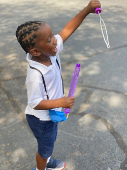 Blowing Bubbles at recess