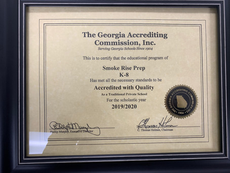 Smoke Rise Prep is Accredited with Quality!