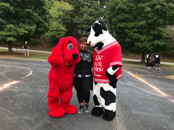 CFA Cow and Clifford!