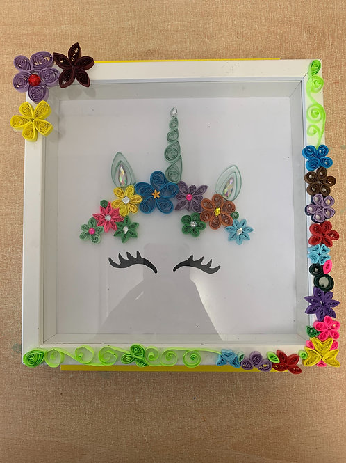 Paper Quilled Unicorn Picture