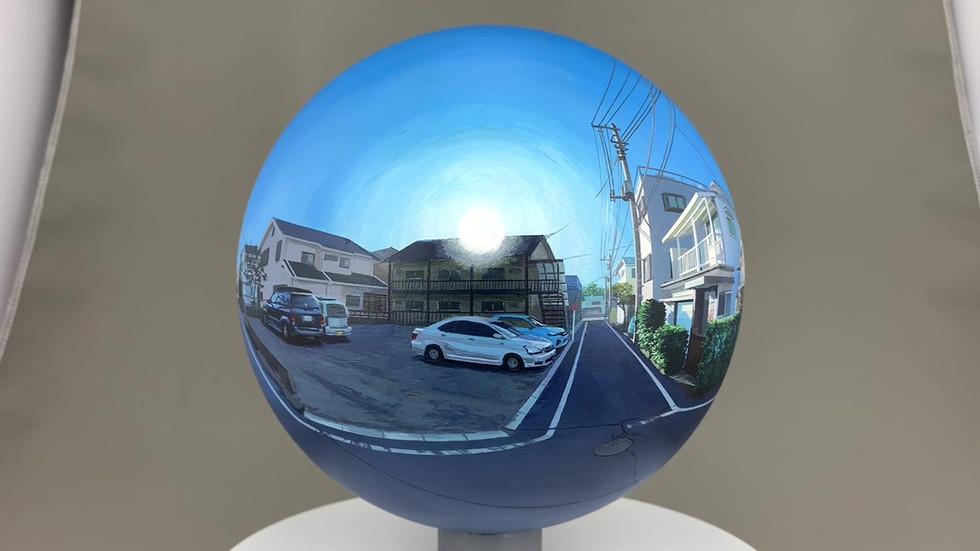 Flatball 2018 No.03  2018 φ17cm  Acrylic paint, acrylic resin