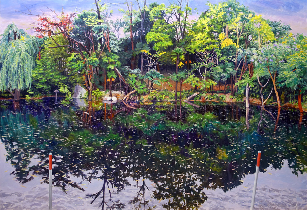 Pond 01  2018 1620×1120mm Oil on canvas