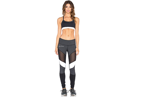 Mesh White Panel Leggings