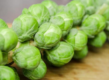 Fresh Brussel Sprouts + Krispy Tempeh