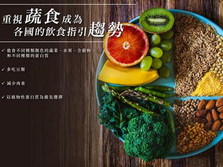 重視蔬食成為各國飲食指引的趨勢