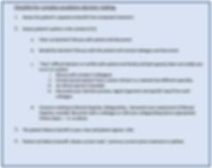 Checklist for complex escalation decisio