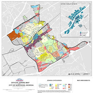 Norcross UDO Official Zoning Map 2019-06