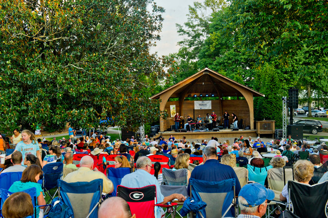 Grab your lawn chair and a picnic and head to Thrasher Park for the Norcross Summer Concert Series.