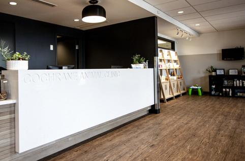 Cochrane Animal Clinic reception area