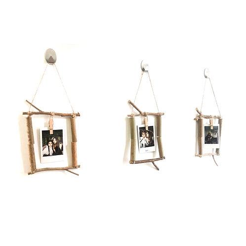 Bamboo Polaroid mini photo hangers - set of 3