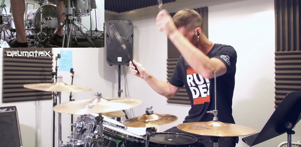 drumatrix on drums in studio 4