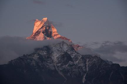 Sunrise on Machapuchare