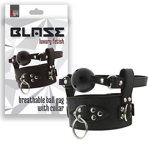 Breathable Ball Gag with Collar