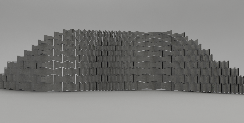 Perspective Render of Wall