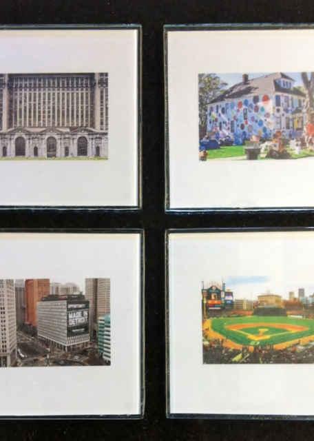 Detroit Landmarks Coaster