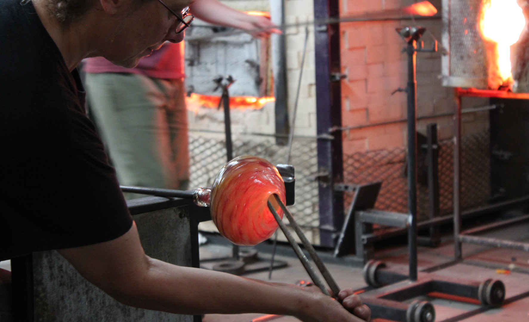 Annette Baron Working Hot Glass