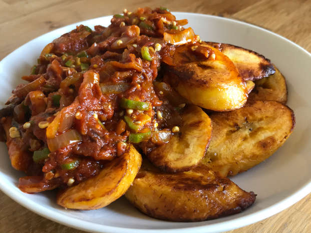 Plantain with Stew 2020