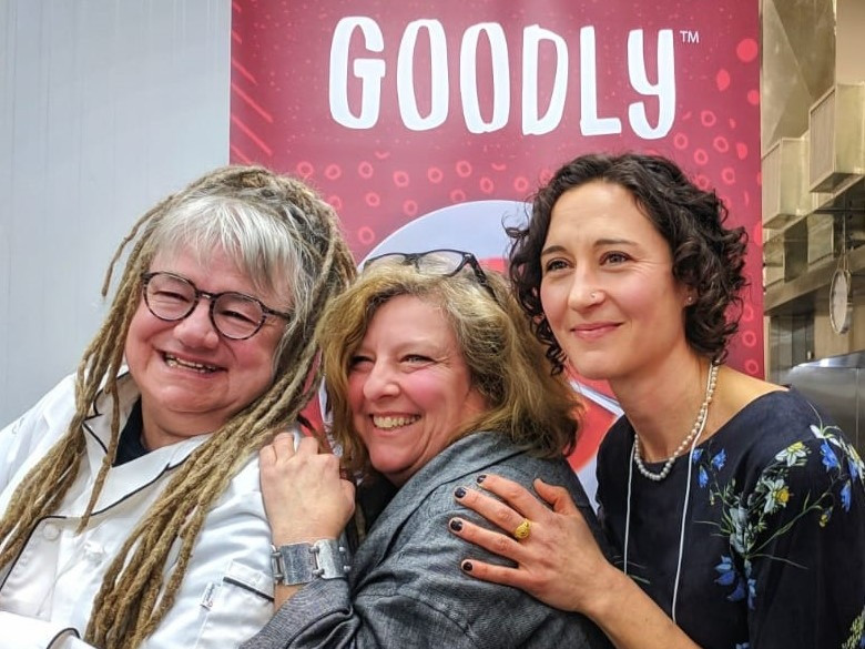 Goodly Foods Team: Chef Karen Barnaby, Operations Specialist Jo-Anne Lauzer, and General Manager Alexa Pitoulis