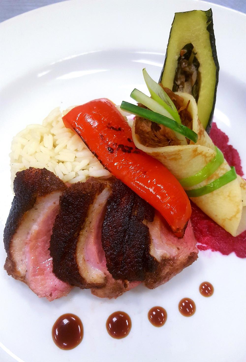 Duck Plate by Chef Glenda Phillips