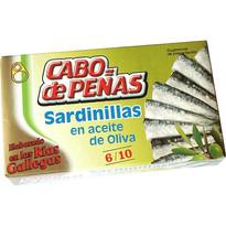 SARDINILLAS CABO DE PEÑAS ACEITE OLIVA 6/10 RR-90