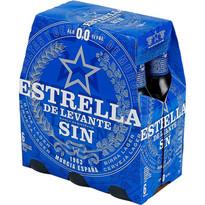 ESTRELLA 0,0 SIN ALC. 1/4 PACK 4X6U
