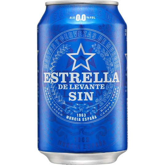 ESTRELLA 0,0 SIN ALC. LATA 33CL 24U