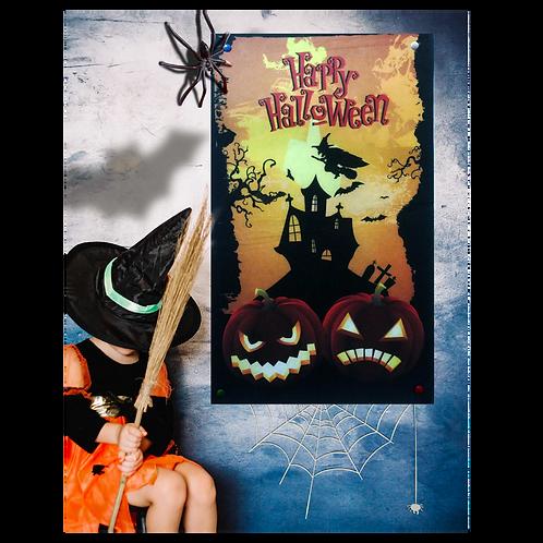 Cartel Halloween 2 Calabazas Vertical