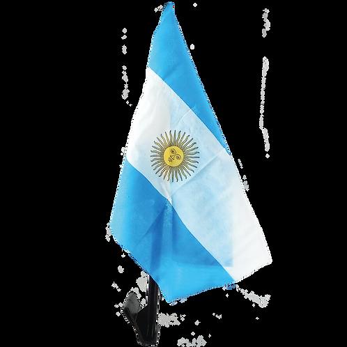 "Bandera p/ Auto ""Argentina"" con Mastil"