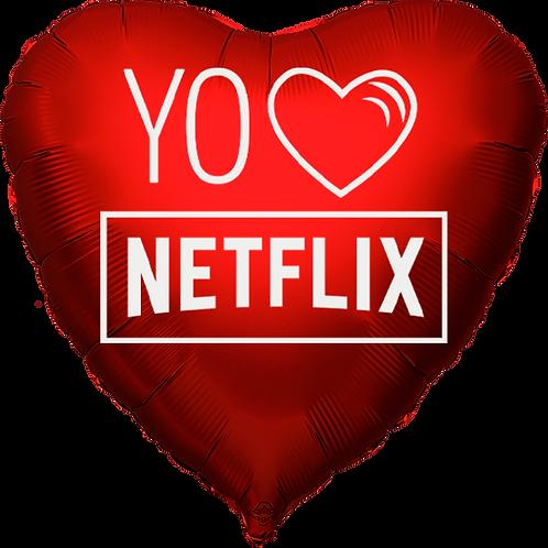 """Globo Corazón 18"""" - Yo Amo Netflix"""