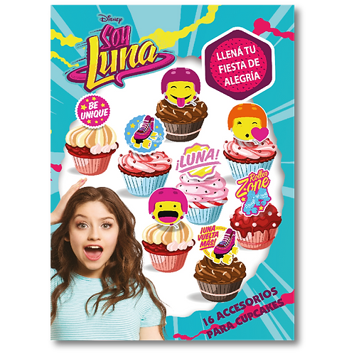 Accesorios para Cupcakes Soy Luna x16