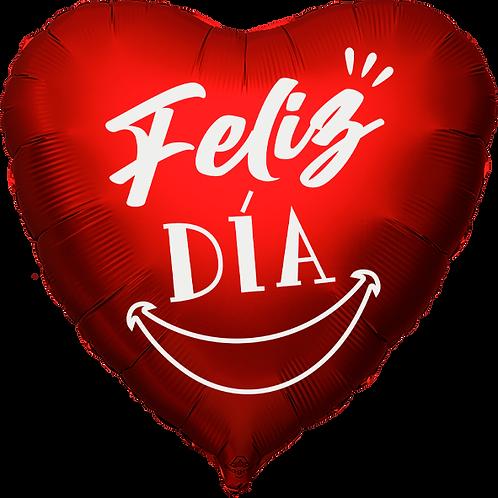"""Globo Corazón 18"""" - Feliz Día Smile"""