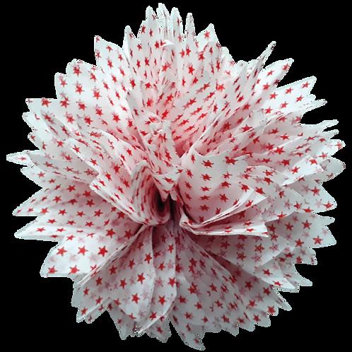 Pompon Estrella Chica Rojo