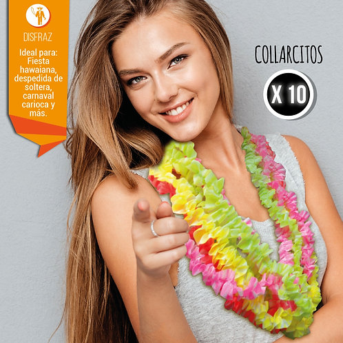 Collarcito Hawaiano Fluo x10