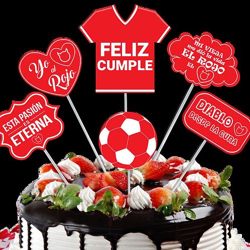 Accesorios para Torta El Rojo x6