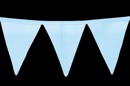 Banderín Liso Celeste Pastel x5