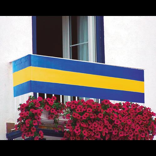Bandera Balcon Azul y Amarillo