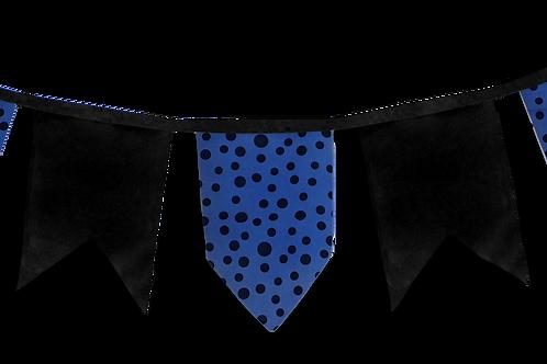 Banderin Vintage Azul Lunar Negro x5