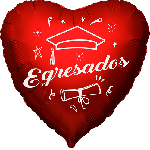 "Globo Corazón 18"" - Egresados"