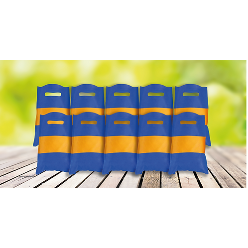 Bolsita Rectangular Azul y Amarillo x10