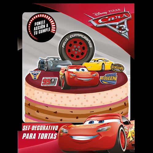 Accesorios para Torta Disney Cars x8