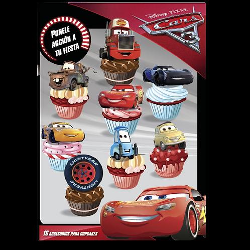 Accesorios para Cupcakes Cars x16