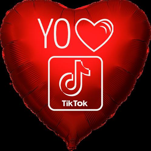 """Globo Corazón 18"""" - Yo Amo Tik Tok"""