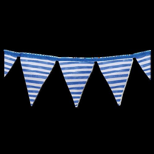 Banderin Rayas Azul x5