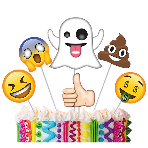 Accesorios para Torta Emoticones Loquitos x6