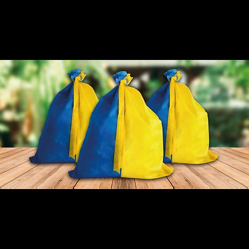 Bolsa Carioca Azul y Amarillo x1
