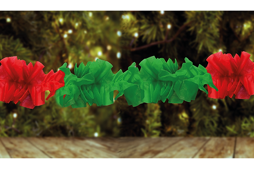 Guirnalda Hawaiana Roja y Verde 3 mts. x1