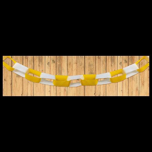 Guirnalda Cadena Amarilla - Blanca