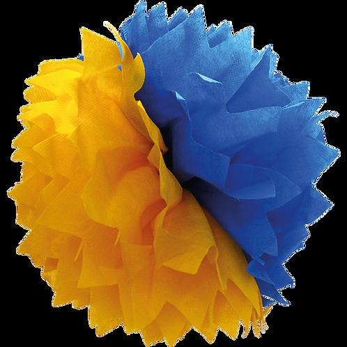 Pompón Azul y Amarillo