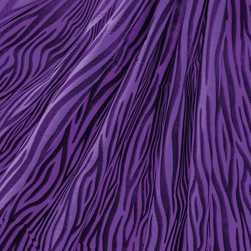 Tela Multiuso Violeta Animal Print Negro - 1,20 mts. X 5 mts.