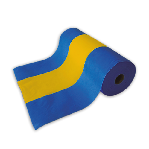 Tela de Bandera Azul y Amarillo 40 cm x 50mts.